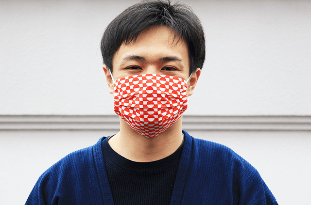 エンニチ 手ぬぐい おてふき マスク 着用